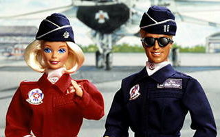 Air Force Barbie and Ken Deluxe Set 1994