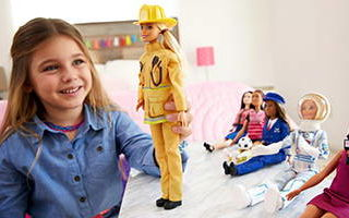 Barbie 60th Anniversary Firefighter Doll 2019