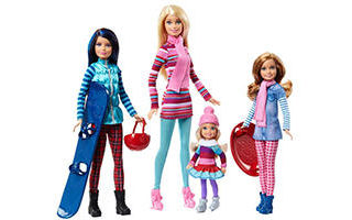 Barbie Pink Passport Winter Getaway Fashion Dolls Set