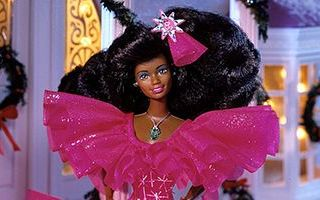 Happy Holidays African-American Barbie 1990