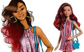 Barbie Fashionistas Tribal Print Romper Doll 2015