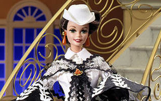 Barbie Doll as Scarlett O'Hara (Black and White Dress) 1995