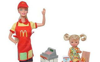 McDonald's Fun Time Barbie & Kelly Dolls