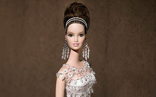 Badgley Mischka Bride Barbie 2004 (brunette)