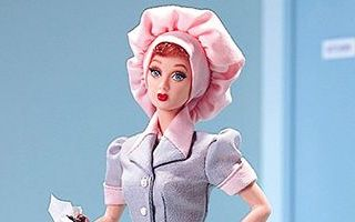 Starring Lucille Ball as Lucy Ricardo in Job Switching Barbie 1999