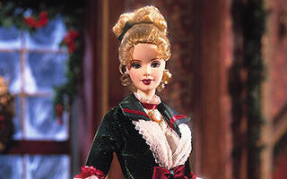 Victorian Holiday Barbie and Kelly 2000