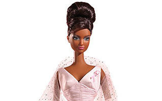 Pink Ribbon African-American Barbie 2006