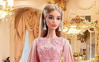 Blush Fringed Gown Barbie 2017