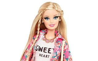 Barbie Glam Luxe Style Floral Jacket Doll 2014
