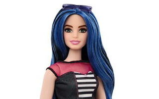Barbie Fashionistas Sweetheart Stripes Doll №27 — Curvy