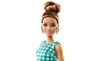 Barbie Fashionistas Emerald Check Doll 2017 №50 — Original