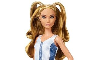 Barbie Fashionistas Partial Updo with Denim Dress 2019 №108