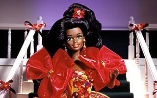 Happy Holidays African-American Barbie 1993