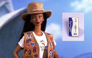 Sydney 2000 Olympic Pin Collector African-American Barbie
