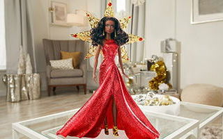 Holiday African-American Barbie 2017