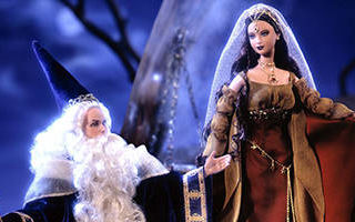 Ken and Barbie as Merlin and Morgan Le Fay 2000