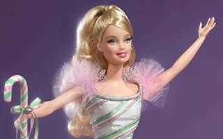 Peppermint Candy Cane Barbie 2002