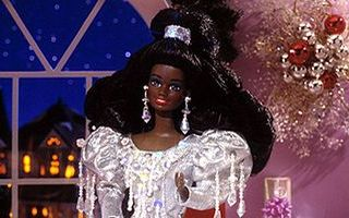Happy Holidays African-American Barbie 1992