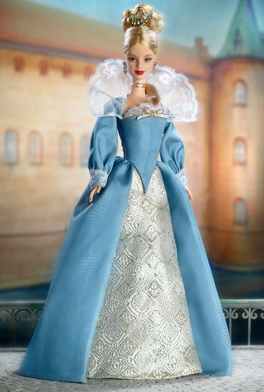 Barbie Princess of The Danish Court Gown /& Shoes 2002 Dolls Of The World
