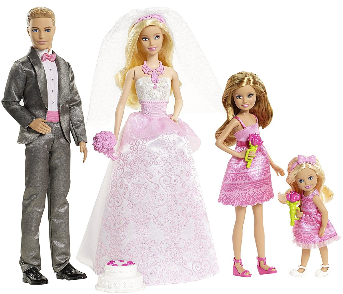 промо-фото Barbie & Ken Fairytale Wedding Gift Set With Skipper & Chelsea