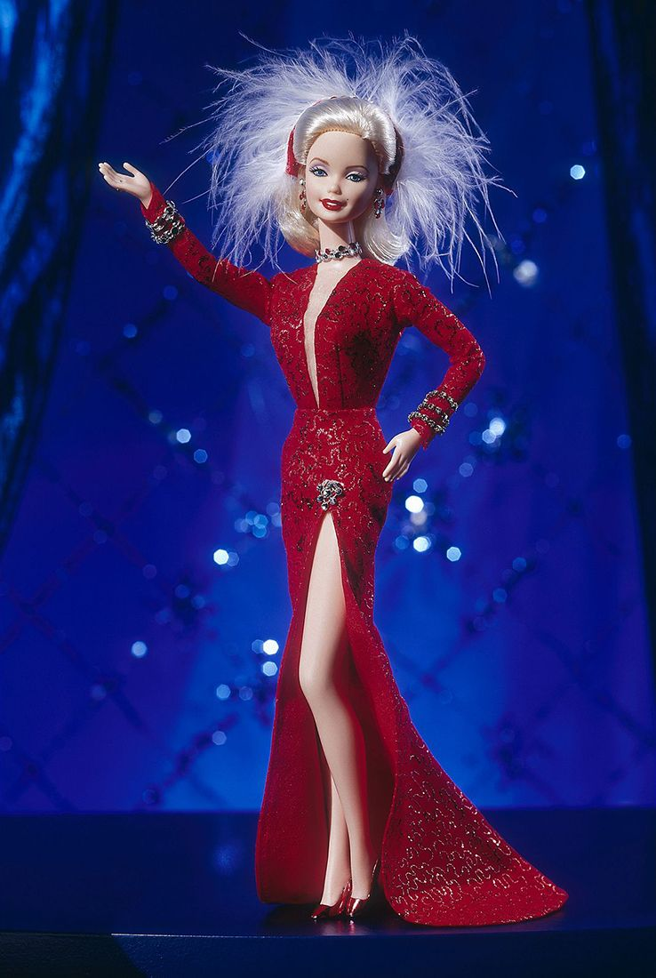 Barbie as Marilyn in the Red Dress from Gentlemen Prefer Blondes 1997
