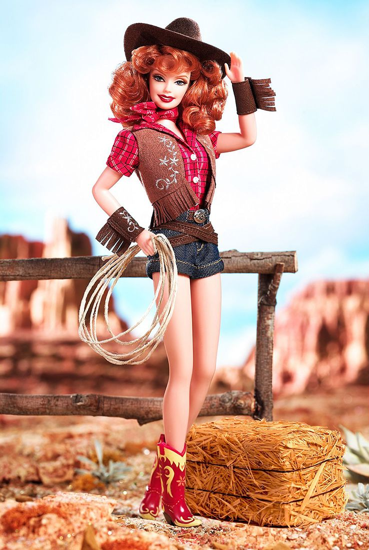 Way Out West Redhead Barbie 2006
