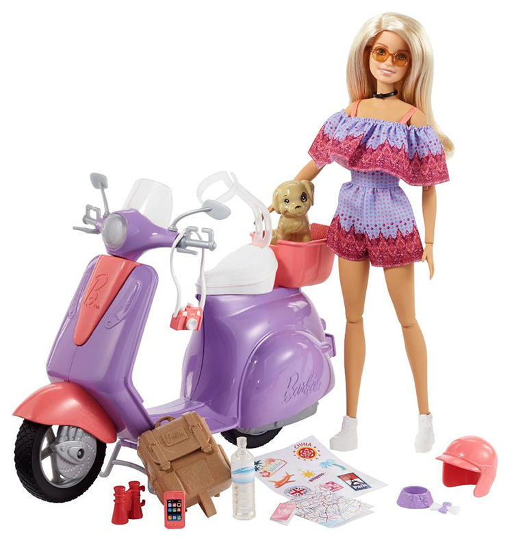 промо-фото Barbie Pink Passport Travel Doll and Scooter