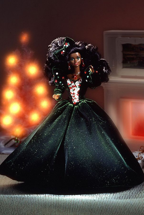 Happy Holidays African-American Barbie 1991
